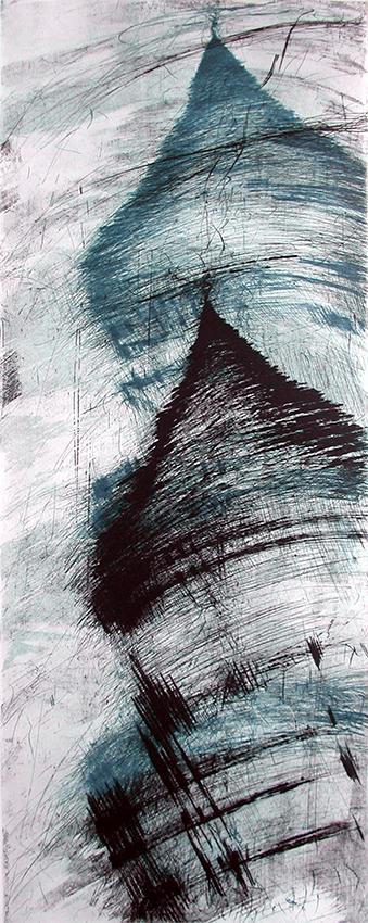 Incisione calcografica, 1998. 1 lastre 100x39 cm, stampa su carta Fabriano Pescia 100x70 cm presso il Frans Masereel Centrum (Kasterlee, Belgio) Tiratura 1/1