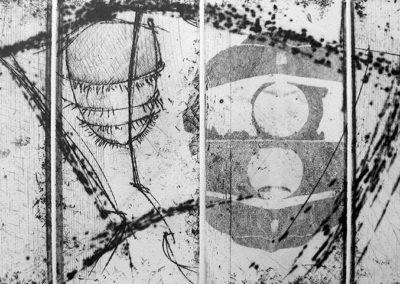 Incisione calcografica. Anno: 1998-2004 Matrice: 4 lastre 35X25 cm Dimensioni stampa: stampa su carta Graphia 50X35 cm Tiratura: 10/10