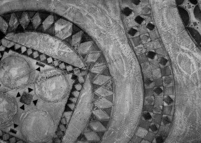 Incisione calcografica, 2002. 1 lastra 60x85 cm, stampa su carta Hahnemühle 60x85 cm. Stampata presso il Frans Masereel Centrum (Kasterlee, Belgio) Tiratura: 5/5