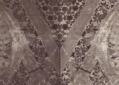 Incisione calcografica, stampa a rilevo, 2014. 1 lastre 70x100x39 cm, stampa su carta Hahnemühle 70x200 cm, stampa e controstampa. Tiratura 1/1 su carta Hahnemühle, 2/2 cerchi esterni e 1/1 interno su carta da architetto.